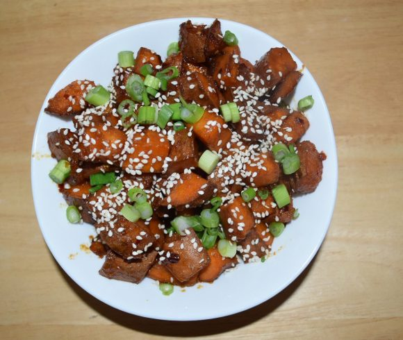 Stir Fried Spicy Sweet Potato